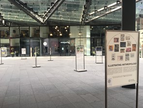Photo of the Illustrating Anthropology Exhibition